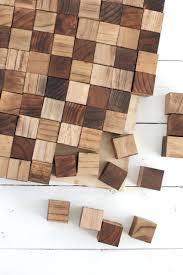 4x4 Wood Crafts Wooden Mosaic Wall Art Diy A Beautiful Mess