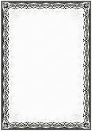 white certificate frame simple black and white certificate frame border vector