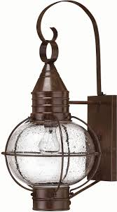 hinkley 2204sz cape cod 1 light 23 inch outdoor nautical wall sconce in sienna bronze loading zoom