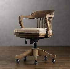 restoration hardware vintage wood office chair cushion for