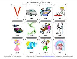 Inital V Speech Therapy Articulation Cards Front