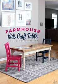 i want a table like this for the s and the uping little brother sister how to build a diy farmhouse kids table free building plans by jen woodhouse