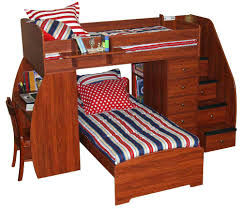 bunk bed with trundle and desk s combo loft chest closet
