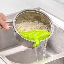 1PC Durable Clean Leaf Shape Rice Wash Sieve Beans ... - Vova