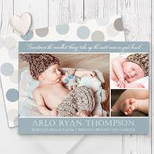 Baby Boy Thank You Cards Blue And Brown Spots Photo Birth Announcement For A Baby Boy Luxury