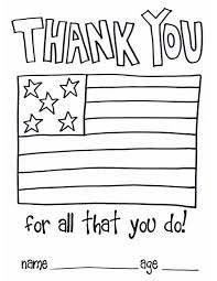 Children Thank You Color Page Soldiers And As A For
