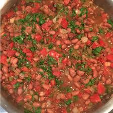 vegan y charro pinto beans in the