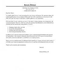 Cover Letter Sample For Law Firm Best Lawyer Cover Letter Examples