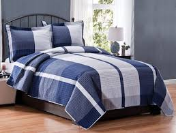 8 best comforters images on Pinterest | Bed covers, Bathroom sets ... & Navy Blue Plaid Teen Boy Bedding Full/Queen or King Quilt Set Yanni 88 x 90 Adamdwight.com