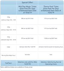 Disney World Ticket Price Chart Save 25 On Disney World Tickets This Fall And Sleep In