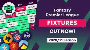 2020 21 premier league fixtures