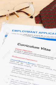 Mock Application Form Curriculum Vitae And Employment Application Form With Glasses