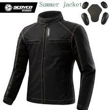 scoyco jk49 summer men s motorcycle moto jackets with protection biker clothes masculine sport jacket