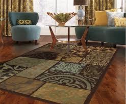 contemporary living room area rug size