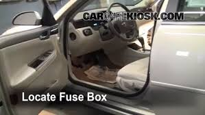 uplander fuse box interior fuse box location 2006 2016 chevrolet impala 2008 interior fuse box location 2006 2016 chevrolet
