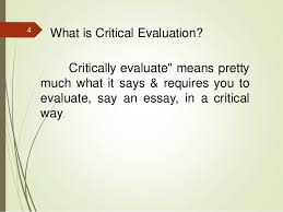 critically evaluate the problems of  critically evaluate