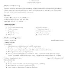 Example Of A Medical Assistant Resumes Resume Sample Resumes For Medical Assistants