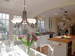 image of contemporary brushed nickel chandelier