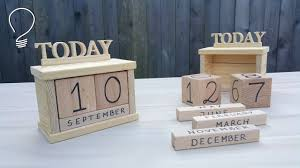 wooden perpetual calendar how does it work