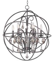maxim 25144oi orbit 6 light 25 inch oil rubbed bronze chandelier ceiling light