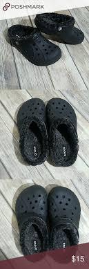 Black Crocs Size J3 8 9y Excellent Like New Crocs Size J3