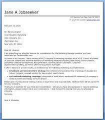 Marketing Manager Cover Letter in Marketing Manager Cover Letter ...
