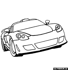 Porsche Carerra GT supercars and prototype cars online coloring pages page 2 on coloring pages porsche