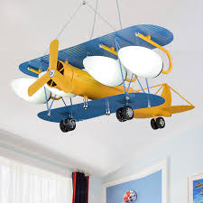 kids room ceiling lighting. brilliant room cool 4light airplane kids room ceiling light wrought iron for lighting