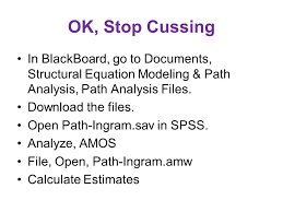 ok stop cussing in blackboard go to doents structural equation modeling path