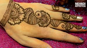 Floral Easy Simple Arabic Mehndi Designs For Hands Beginners