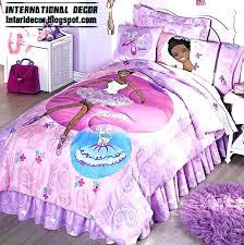 barbie bedding sets set girls bedroom with purple doll toddler pink bed