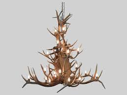 crafted from elk moose and deer antlers this chandelier is the quintessential standalone centerpiece perfect for a great room dining room