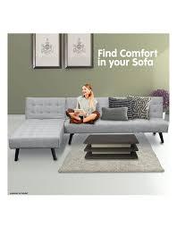 sarantino 3 seater corner sofa bed