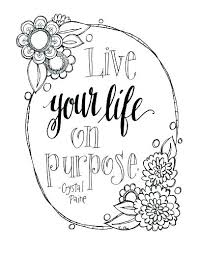 Free Printable Quote Coloring Pages For Adults Hope Motivational