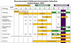 Vaccination Chart For Babies Usa Vaccination Liberation Information