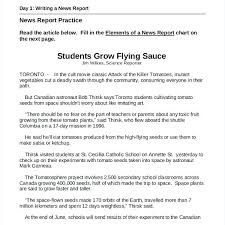 Newspaper Report Template Microsoft Word Writing A Book Report Example Style Examples Template