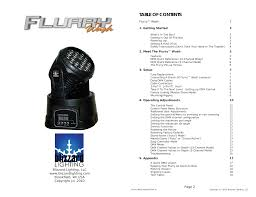 Blizzard Lighting Flurry 5 Blizzard Lighting Wash Flurry User Manual 10 Pages