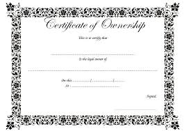 Certificate Of Ownership Templates Best 10 Templates