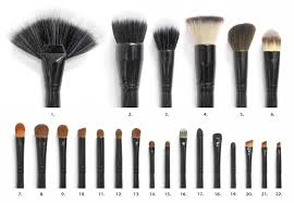 diffe types of makeup brushes to apply face powder