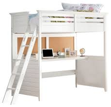 alluring twin loft bed with desk white transitional beds bedroom full version