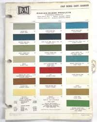 Sell 1969 Dodge R M Color Paint Chip Chart Charger Dart All