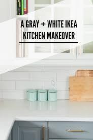 Affordable Kitchen Backsplash A Gray And White Ikea Kitchen Transformation Subway Tile