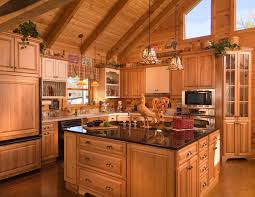 pictures of log cabin kitchens