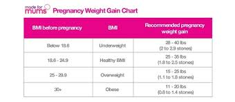 Pregnancy Weight Gain Chart Weight Gain In Pregnancy How Much Is Healthy Madeformums