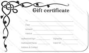 gift card template simple gift certificate templates