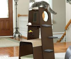 chic cat furniture. Beautiful Cat All Wood Cat Tree Chic Furniture With