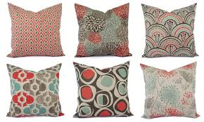 orange accent pillows. Blue Decorative Pillow Brown Orange Taupe Accent With Top And Throw Pillows