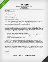 Call Center Cover Letter Example Call Center Cover Letter Example Cover Letter For Resume