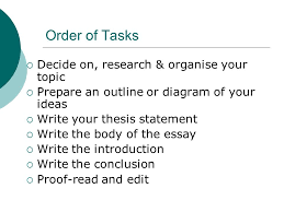 guidelines for writing a basic essay a step by step guide through    order of tasks  decide on  research  amp  organise your topic  prepare an outline