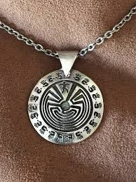 healing hands labyrinth necklace